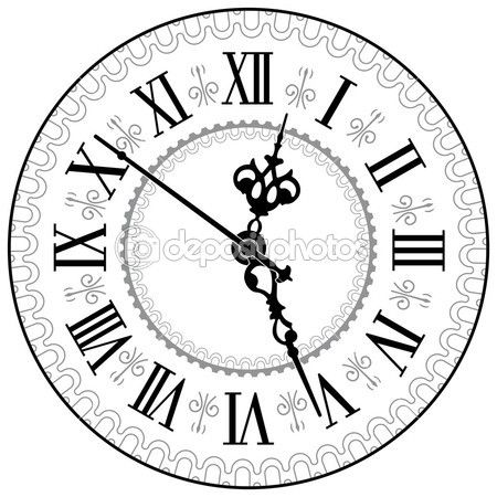 relógio antigo — Ilustração de Stock #10598210