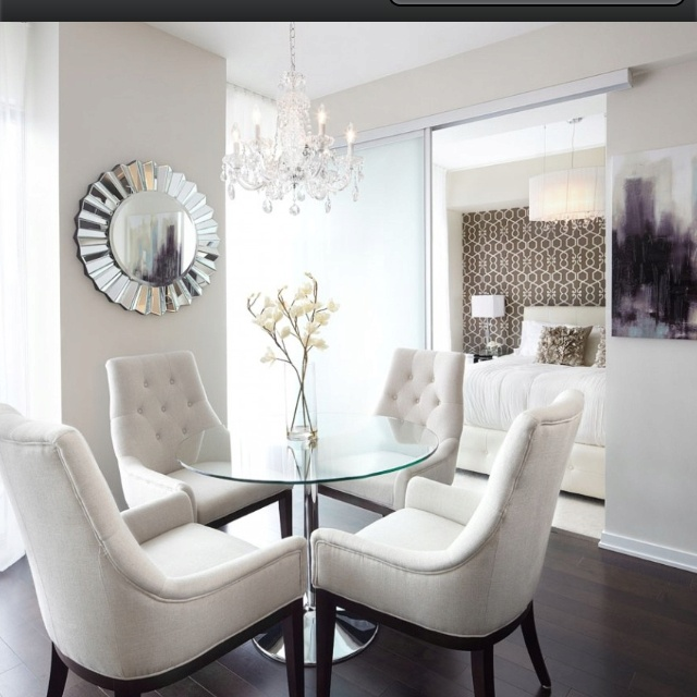 White tuffed chairs my wants and needs pinterest for Kitchen ideas queensway