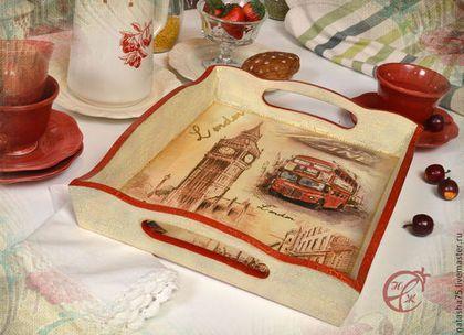 """Поднос """"Английское чаепитие"""" - поднос для кухни,поднос,английский чай"""