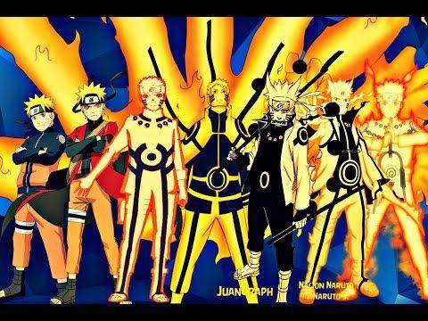 Naruto Uzumaki - All Forms (Naruto,Naruto Shippuden, Naruto The Last, Naruto Gaiden,Boruto Movie) - YouTube