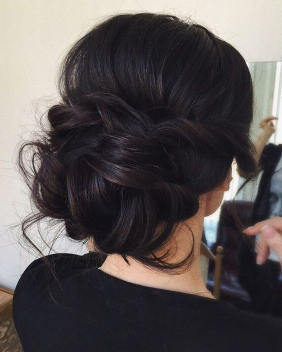 low bun wedding updo hairstyles via tonyastylist / http://www.himisspuff.com/beautiful-wedding-updo-hairstyles/18/