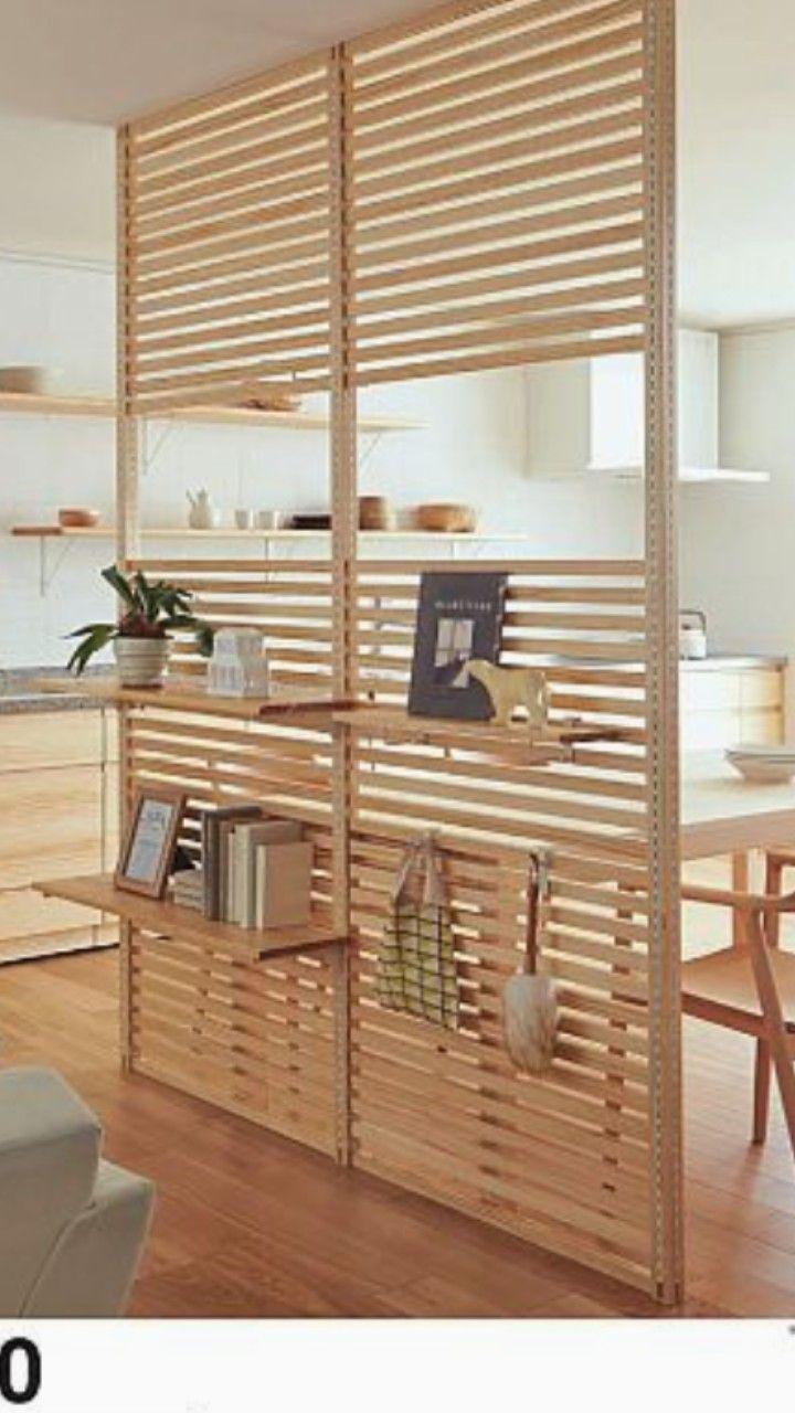 Estilo e modernidade nesta divisória criativa em madeira natural   – Wohnen