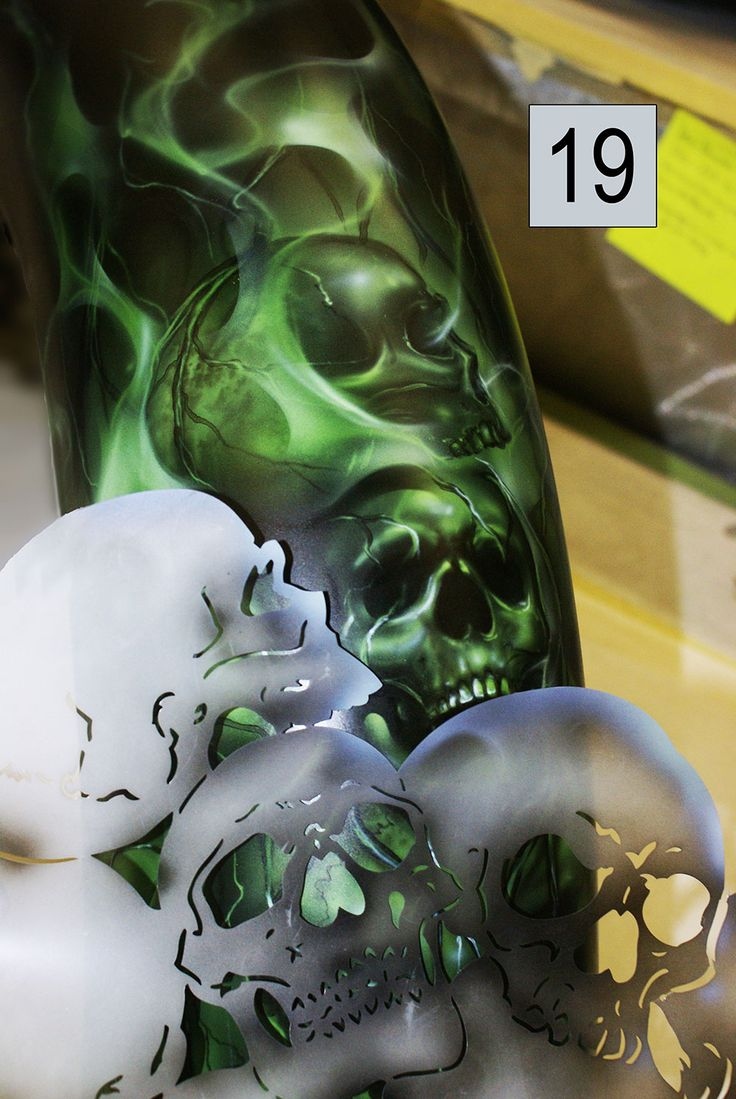 easy airbrush | Airbrush Skulls Super Easy Using Templates Video Pictures