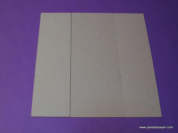 ¿Cómo se hace una caja de cartón gris? Paso 4.
