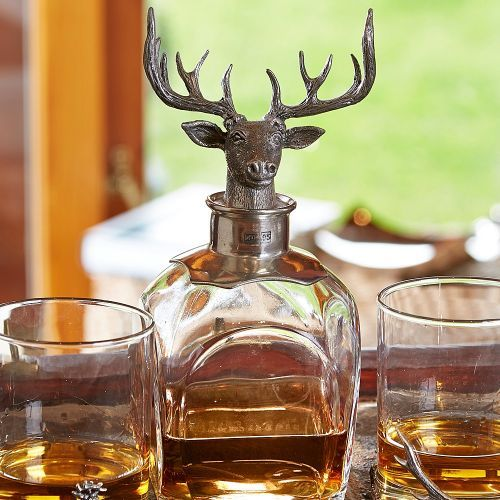 Stag Decanter and Two Whisky Tumblers Set | At Home in the Country