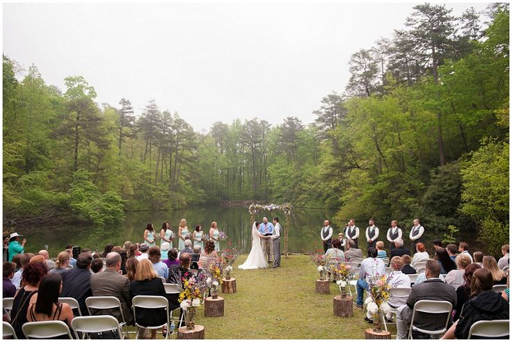 outdoor state park wedding //  Photography: Southern Jewel Photography • Rentals: ABC Party Rentals • Venue: Paris Mountain State Park