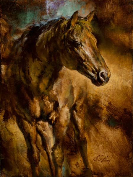 This man's work is beautiful. One of my favorite artists, Chris Owen. I would have his stuff up EVERYWHERE! El-Caballo,-oil, By Chris Owen