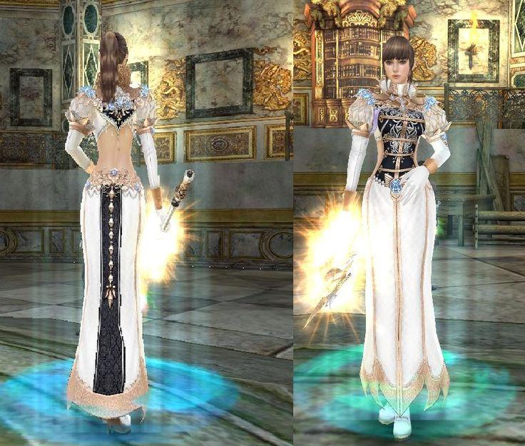 Granado Espada Online Female Wizard Santos de Blanc Armor Coat Def. Rating 34 base available for Highmaster