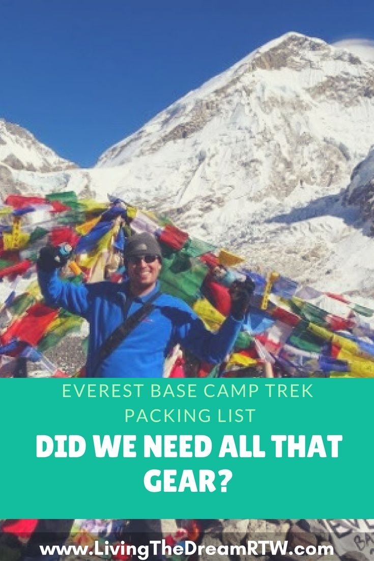 Everest Base Camp packing list.