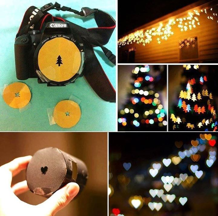 Make your photo more fun with these DIY Bokeh Effects lense filters. #diy #craft #tips