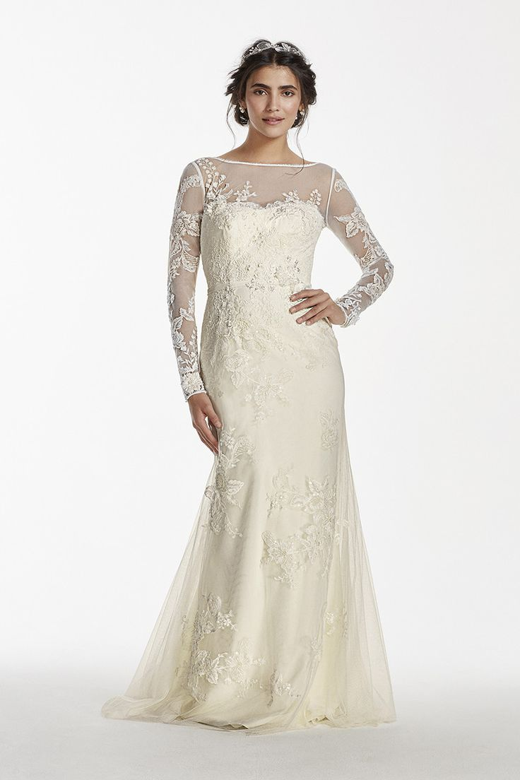 The perfect vintage inspired wedding dress long sleeved for Long wedding dresses with sleeves