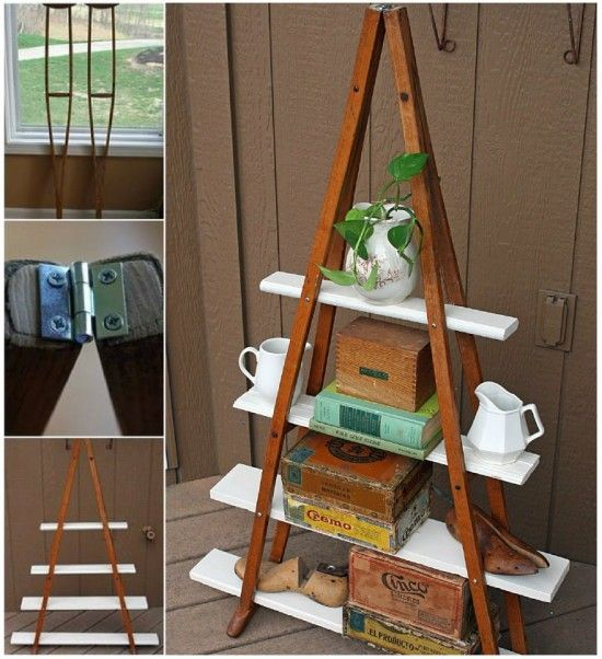 DIY Crutch Shelf | The WHOot
