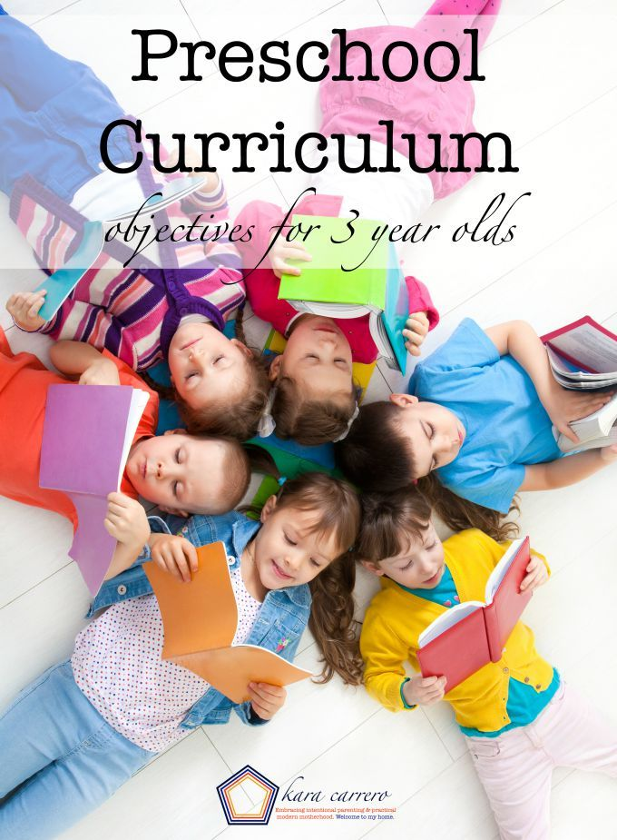 Preschool Curriculum Learning Objectives For 3 4 Year