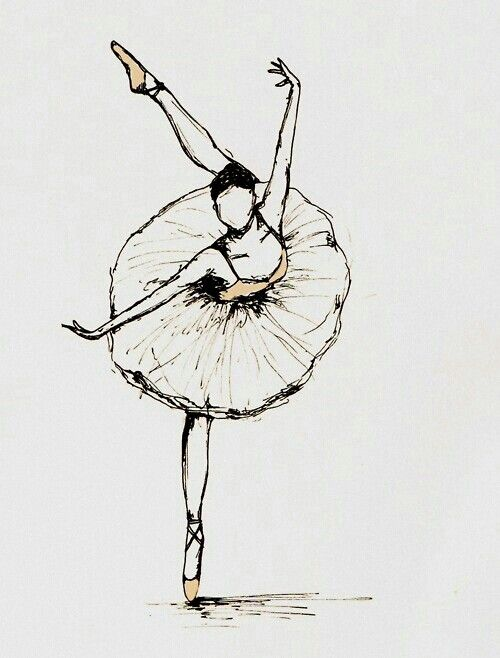 I'm always drawing tiny ballerinas on my work