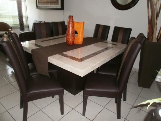 Comedor de marmol espa ol 8 sillas muebles - Mesas de marmol y cristal ...
