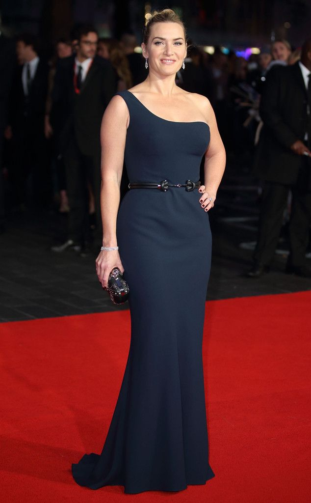 Kate Winselt from The Best of the Red Carpet  She's the picture of elegance in a one-shoulder, belted Alexander McQueen number.