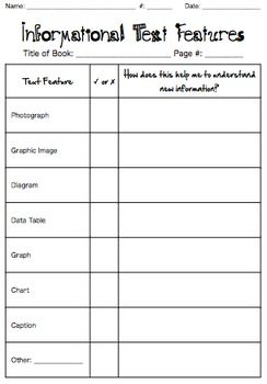 Printables Text Feature Worksheet 1000 ideas about text features worksheet on pinterest this graphic organizer is set up as a check list for informational or non fiction and also includes column