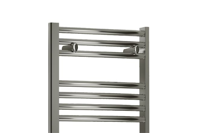 Renwick Straight Heated Towel Rail 800 x 400mm - V400x800FlatChromeTowelRail front_angle rectangle medium