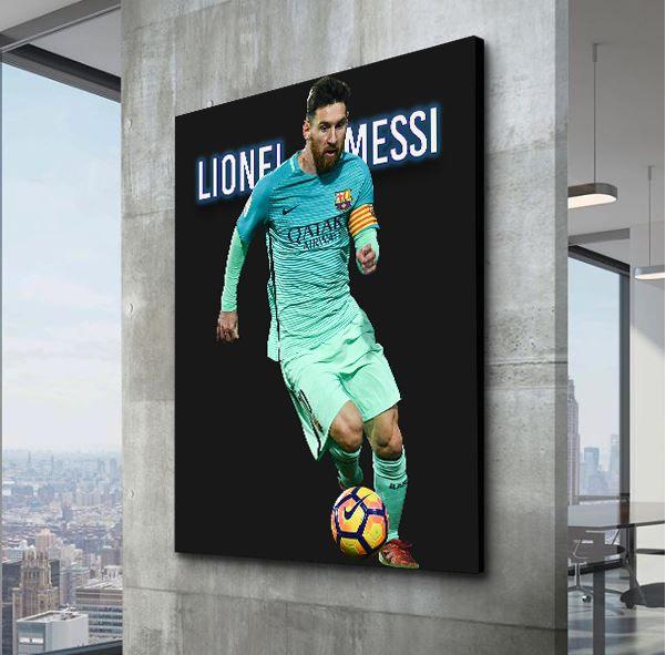 Lionel Messi Canvas Wall Art Illustrious Lionel Messi Canvas Leo Messi