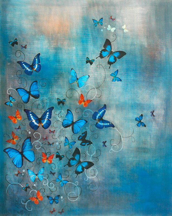 Faith is Torment | Art and Design Blog: Butterflies: Paintings by Lily Greenwood