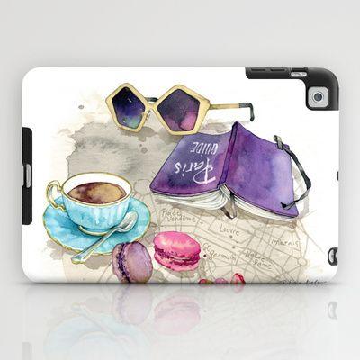 Tea time iPad Case by Alicia Malesani - $60.00