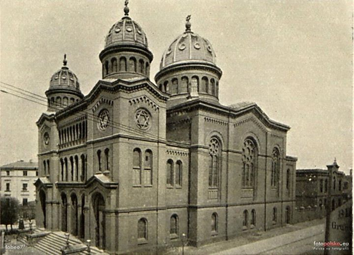 Main Synagogue in city, destroyed by nazi during the world war II (720×518)