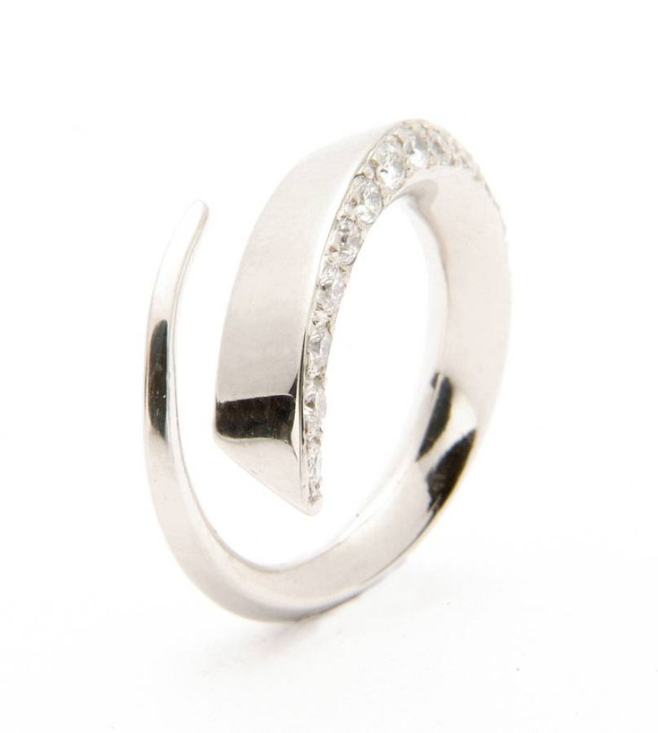 platinum diamond ring by melina clark | notonthehighstreet.com