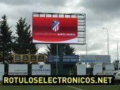 Otro caso de éxito: instalamos el #videomarcador para campo de #fútbol de U.D. Santa Marta.