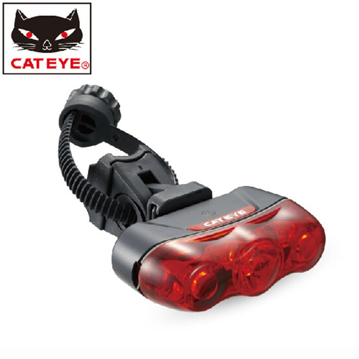 CATEYE Bike Bicycle Light Rear Light Led Taillight Lamp Flashlight-RAPID 3 Red Mountain Bike Lights With Mount