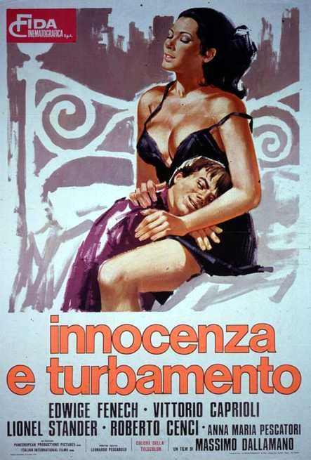 Innocenza e turbamento ,1974 Italy , by Massimo Dallamano  . The  stepmother   Carmela (Edwige Fenech 26-y)  discourages her seminarian  stepson Tonino (Roberto Cenci 14-y) from his religious intentions.