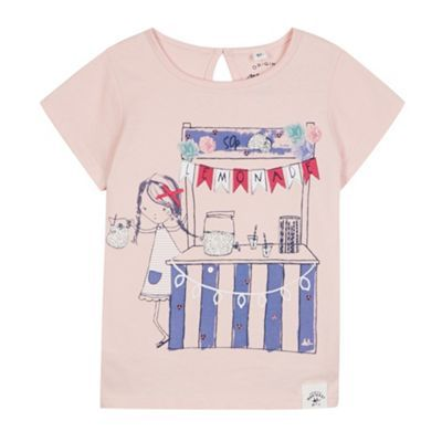 Mantaray Girl's pink lemonade stand printed t-shirt- at Debenhams.com