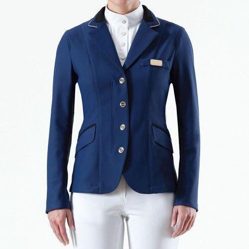 Premier Equine Ladies Calvara Navy Competition Jacket