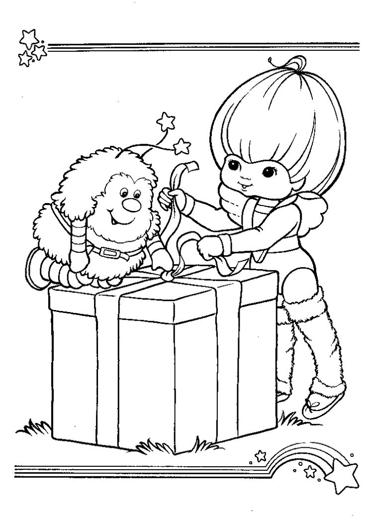 Rainbow Brite Doll Coloriing Poages