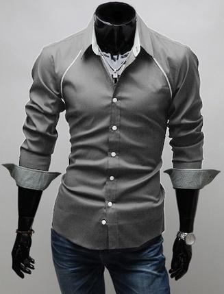 Chest Accented Dress Shirt