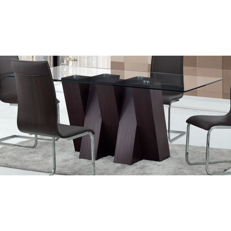 Modernize Your Dining Area With This Striking Glass Top Table