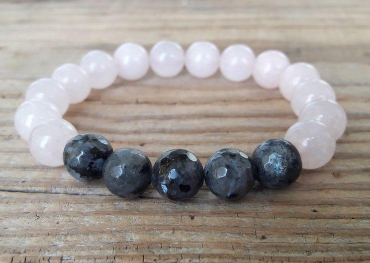 Grey labradorite bracelet rose quartz bracelet faceted labradorite bracelet femme yoga mala healing depression bracelet for women gift idea par HarmonyLifeShop sur Etsy https://www.etsy.com/ca-fr/listing/501342195/grey-labradorite-bracelet-rose-quartz