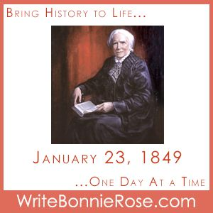 FREE Timeline Worksheet: January 23, 1849, Dr. Elizabeth Blackwell. Courage can be found in the most unlikely places, even when reading to children at the library, when reading the story of a courageous woman like Elizabeth Blackwell. Join Amy as she faces her fears in today's short story for kids. - WriteBonnieRose.com
