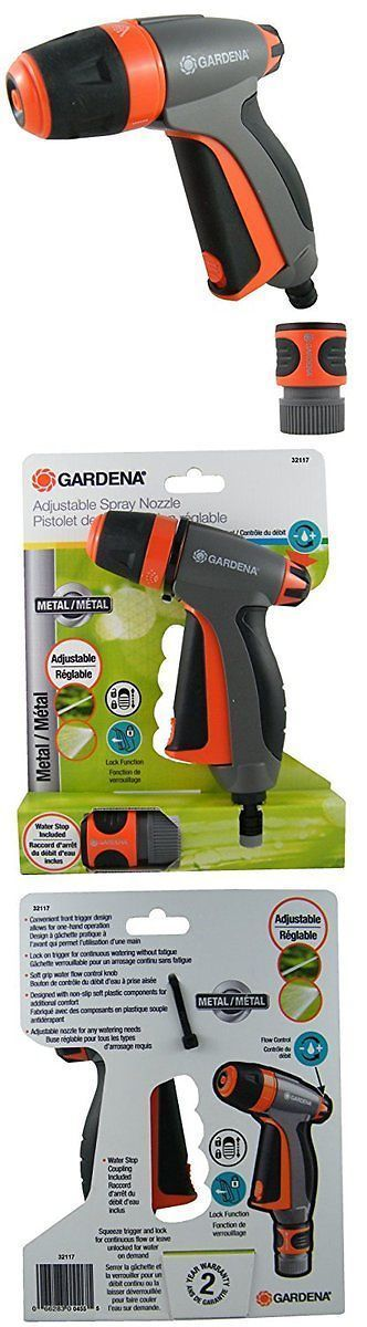Hose Nozzles and Wands 181015: Gardena Metal Fully Adjustable Spray Gun With Built In Flow Control -> BUY IT NOW ONLY: $44.16 on eBay!