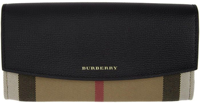Burberry Brown and Black Porter Wallet