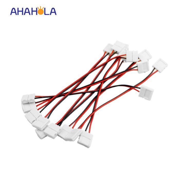 2 pin led strip connector 5050 led extension cable wire accessories,both end with connector, 10pcs/lot,free shipping