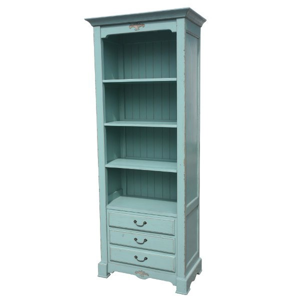 Painted Bookcase French Blue