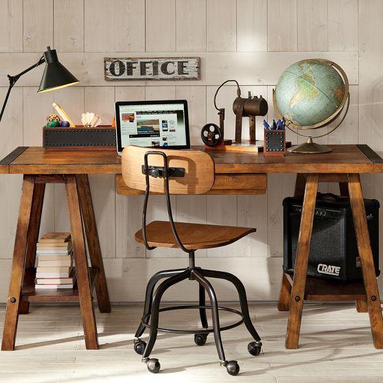 Emerson Sawhorse Desk + Hutch / Pottery Barn