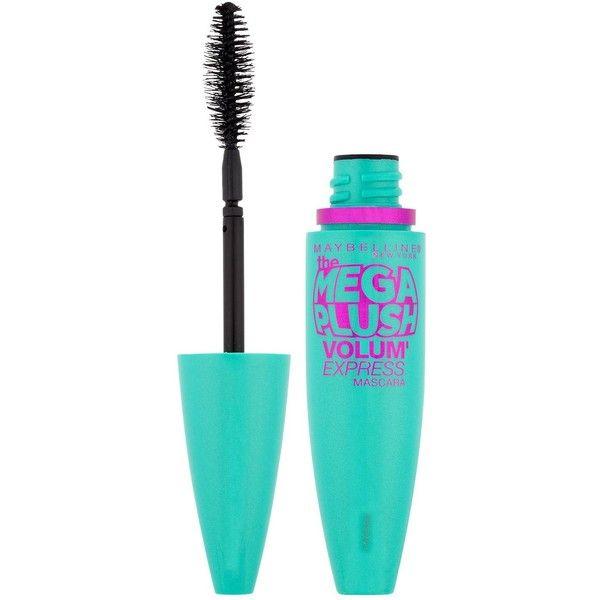 Maybelline Mascara Mega Plush Very Black ($13) ❤ liked on Polyvore featuring beauty products, makeup, eye makeup, mascara, maybelline, maybelline mascara, black mascara, black eye makeup and gel mascara