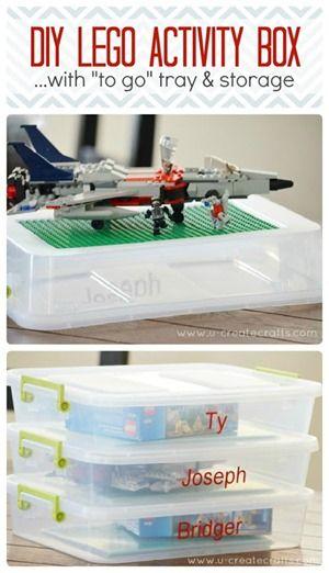 DIY Lego Activity Box with Storage - on the go Lego fun!