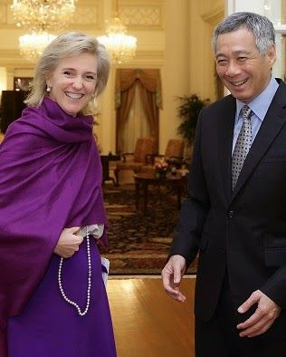 Royal Family Around the World: Princess Astrid Of Belgium Visits Prime Minister Lee Hsien Loong of Singapore on November 27, 2014 in Singapore.