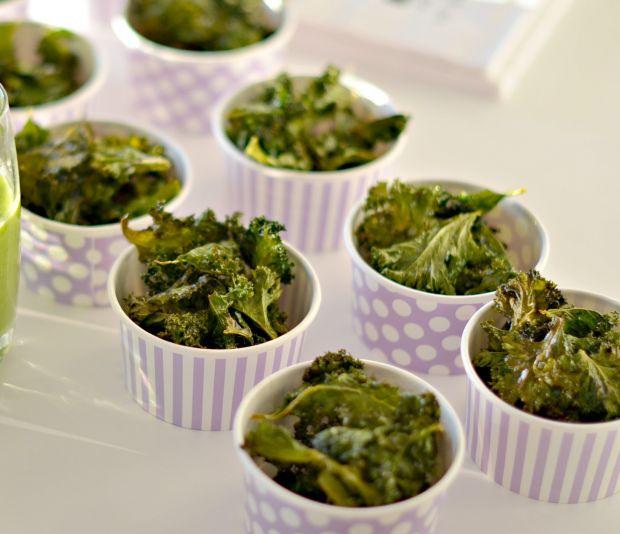 grønnkålchips, sunn snacks