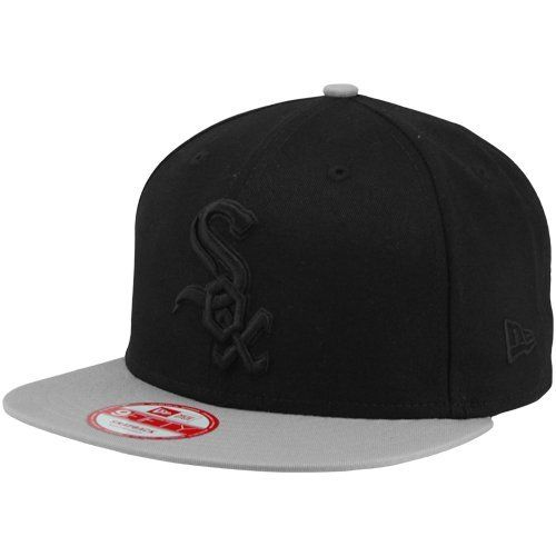 New Era Chicago White Sox 2-Tone 9FIFTY Snapback Hat - Black/Gray by New Era. $27.95. Six panels with eyelets. Quality embroidery. Imported. Adjustable plastic snap strap. Structured fit. New Era Chicago White Sox 2-Tone 9FIFTY Snapback Hat - Black/GrayAdjustable plastic snap strapImportedOfficially licensed MLB productSix panels with eyeletsQuality embroidery100% CottonStructured fit100% CottonSix panels with eyeletsStructured fitAdjustable plastic snap strapQualit...