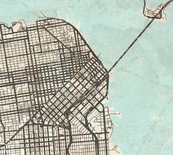 SAN FRANCISCO Canvas Print CA California by NatalyBorichArt