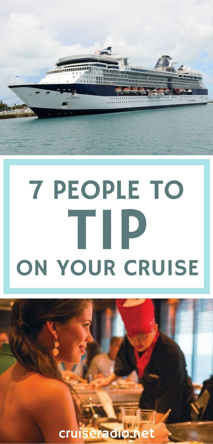There are lots of hard-working people that deserve a tip when it comes to going on a cruise. Here are seven people not to forget!