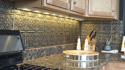 Pressed Tin Panel Kitchen Splash Back